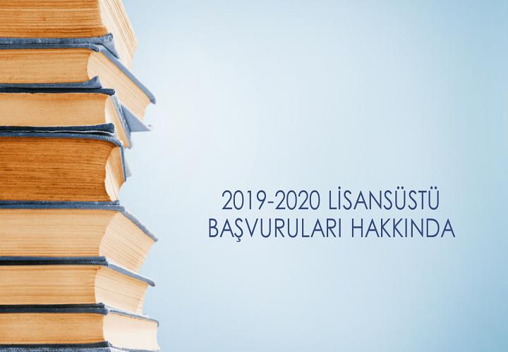 2019 Yüksek Lisans Başvuruları
